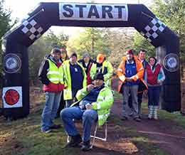South Hams Motor Club Members prepare to marshall