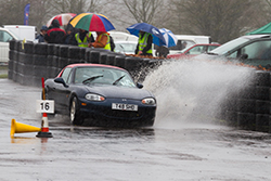 MX5 having fun in at a wet AutoSOLO
