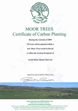 Certificate of Carbon Planting - moortrees.org